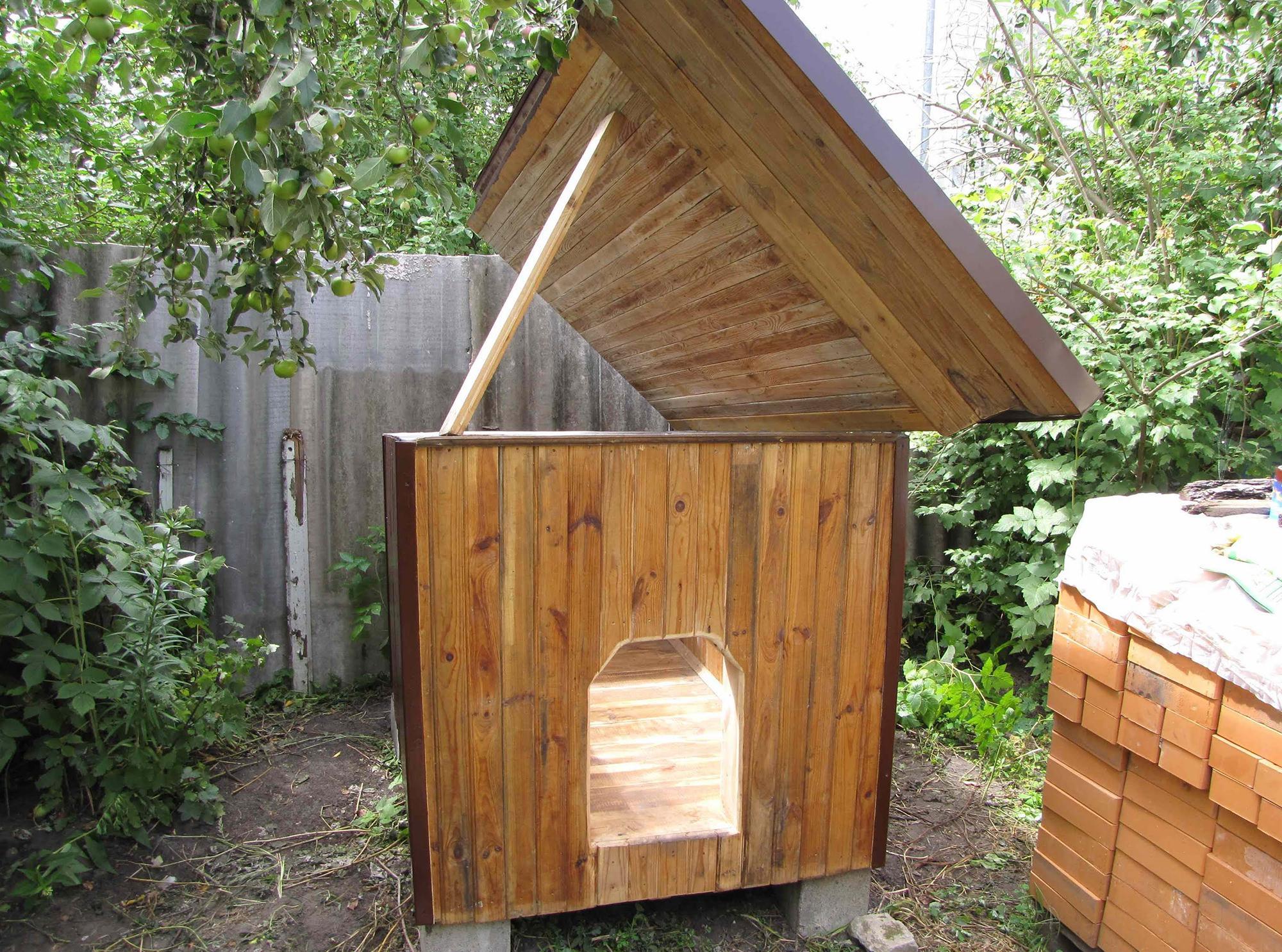 Будка для собаки с открывающейся крышей