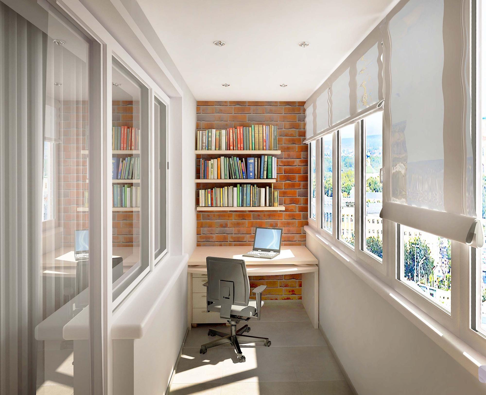 Лаконичная мебель для небольшого балкона