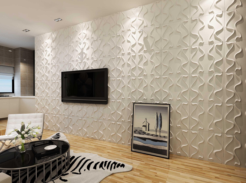 Декор из пенопласта в гостиной