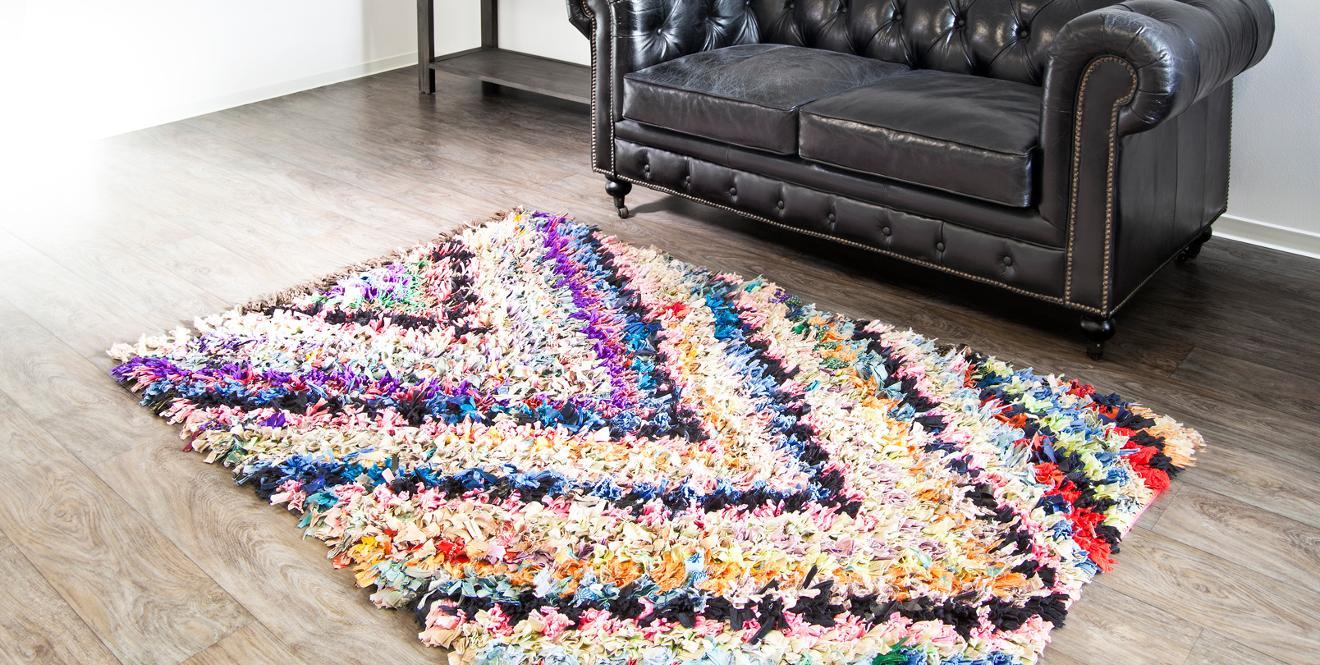 Вязаный коврик