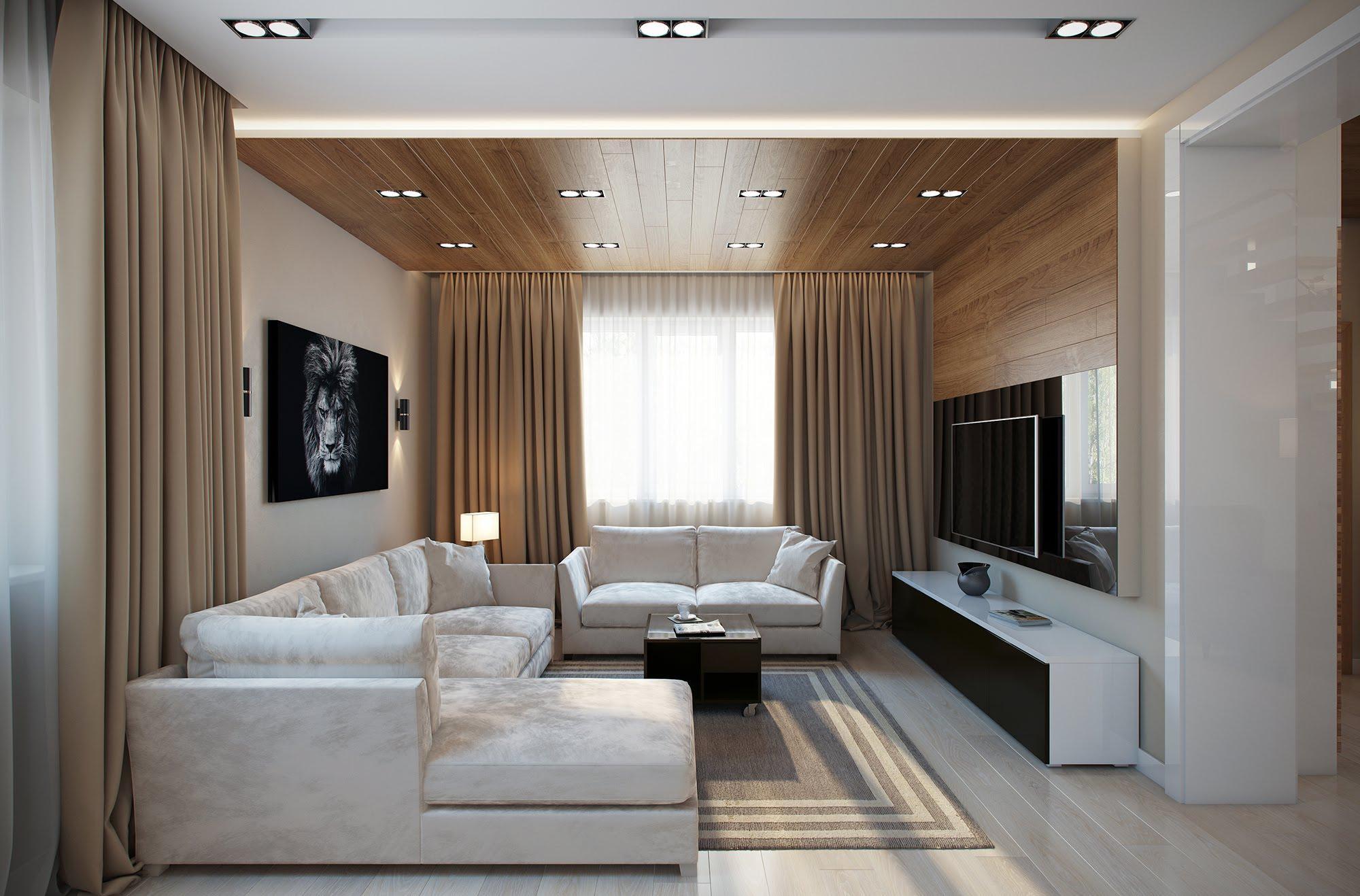 Гостиная в стиле современный модерн