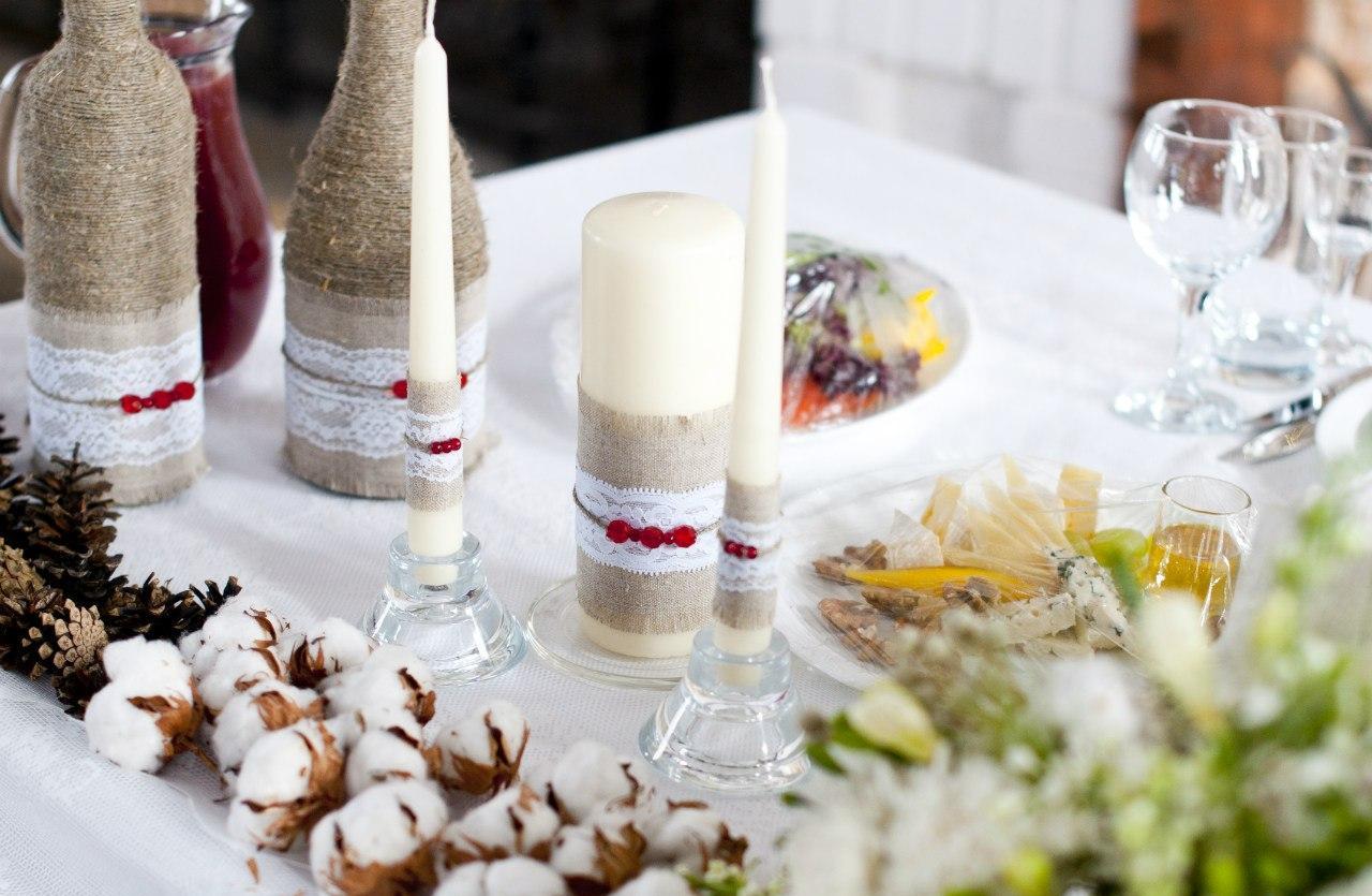 Декор бутылок для праздничного стола