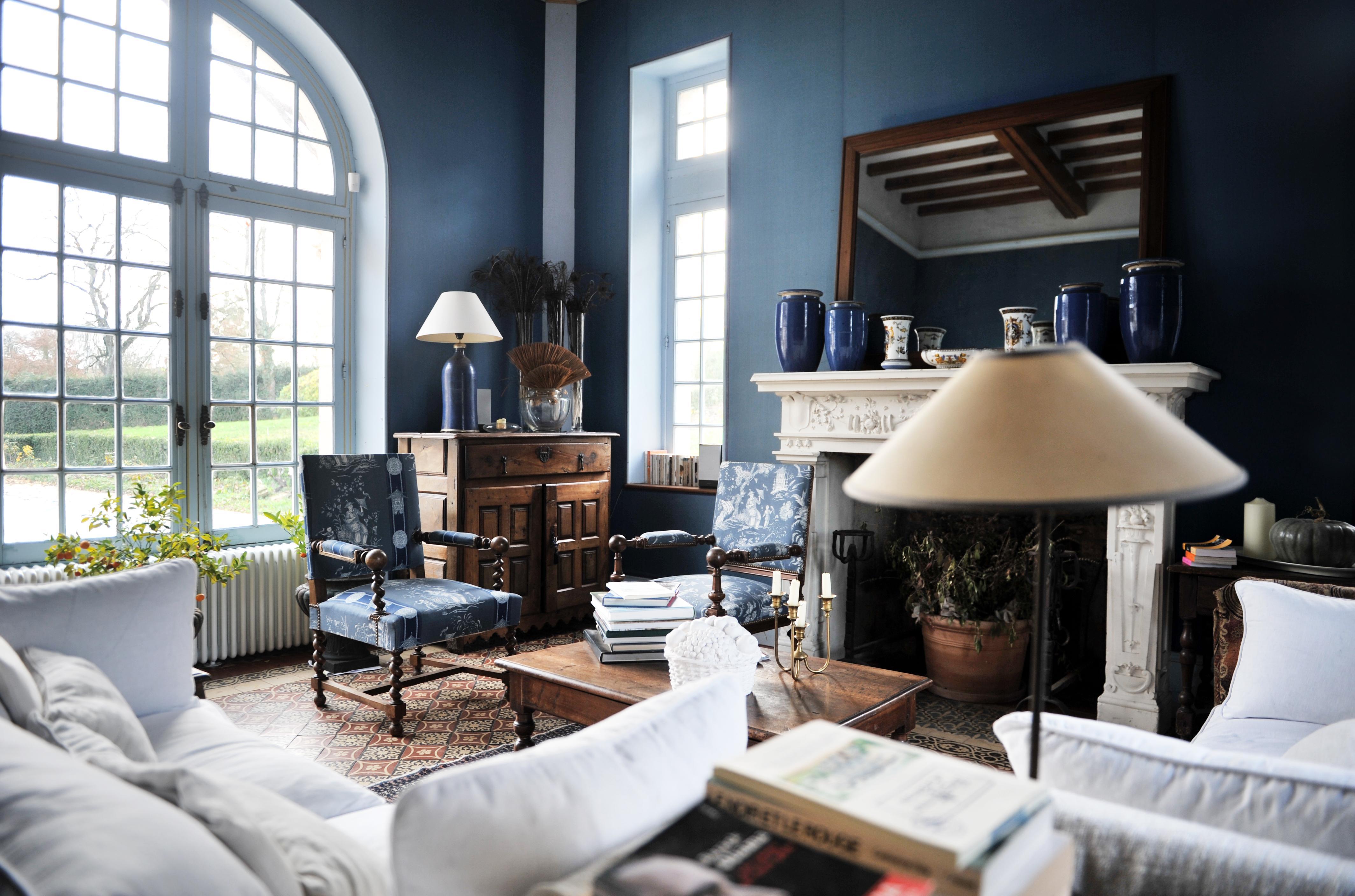 Голубая гостиная во французском стиле