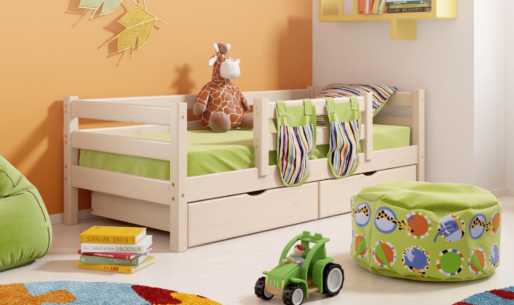 Детская кровать со съемными бортиками