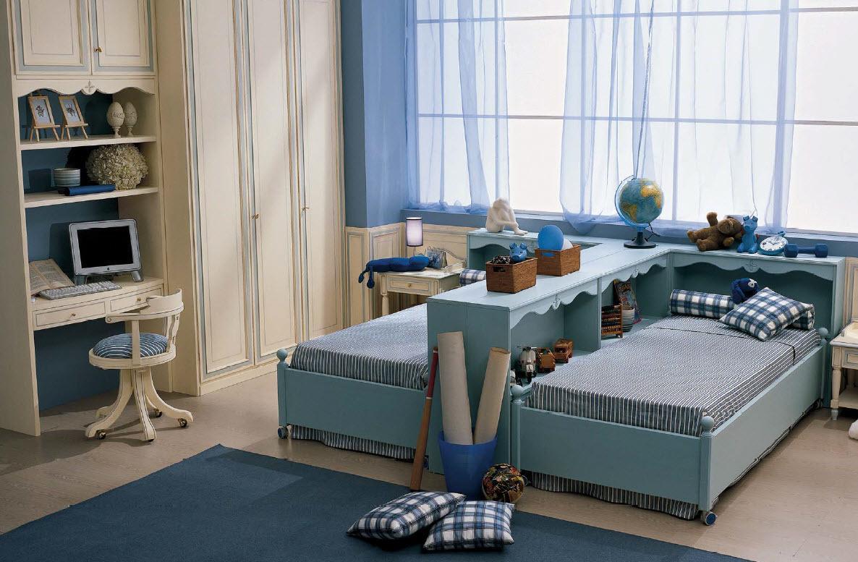 Дизайн детской комнаты для двух мальчиков прованс
