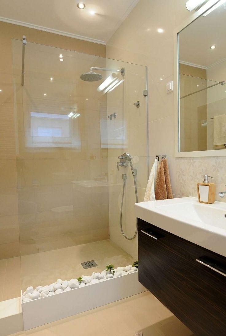 Маленькая ванная комната в стиле эко