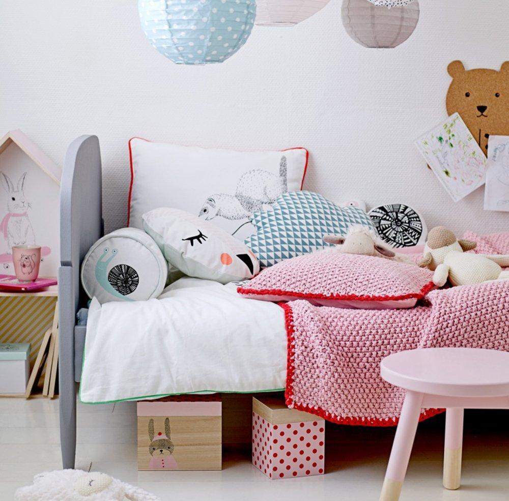 Эконом дизайн детской комнаты с текстилем