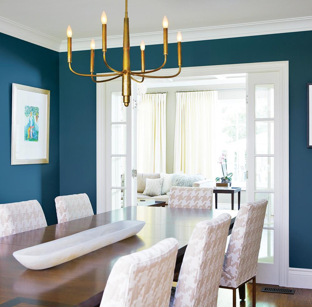 Темно-голубая гостиная