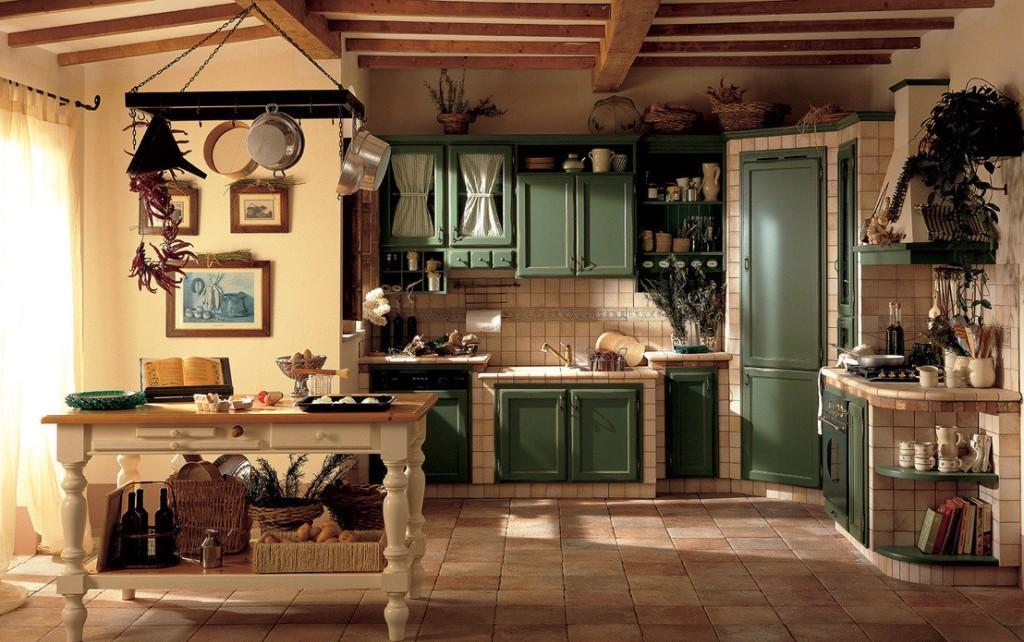 Уютная кухня в стиле рустик