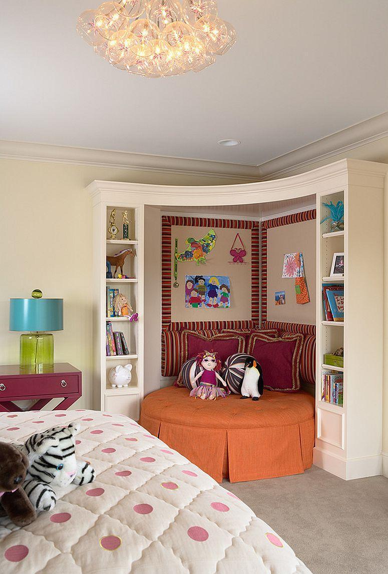 Декор угла в спальне
