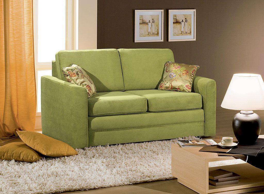 Выкатной зеленый диван