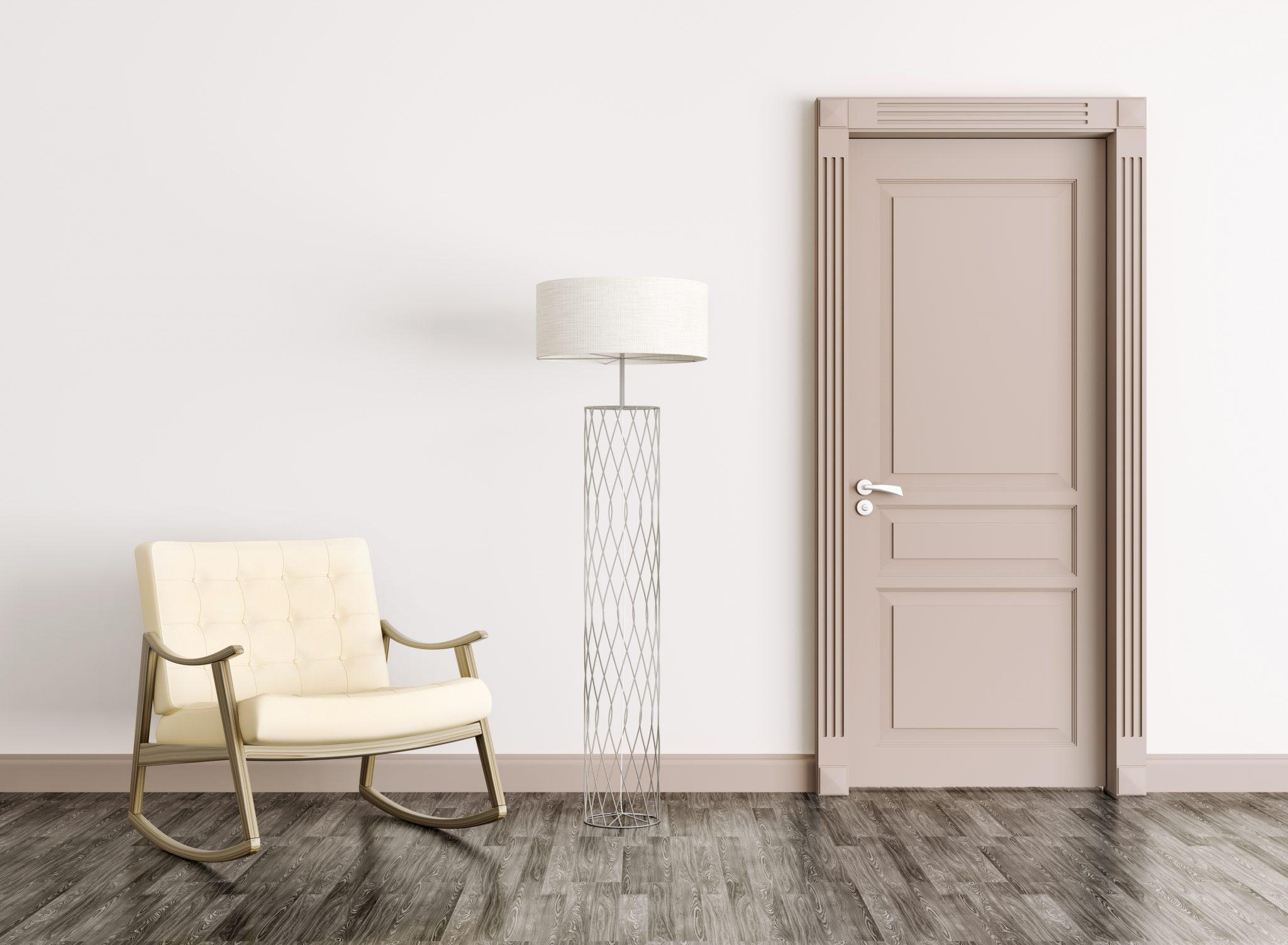 Дверь капучино в стиле модерн