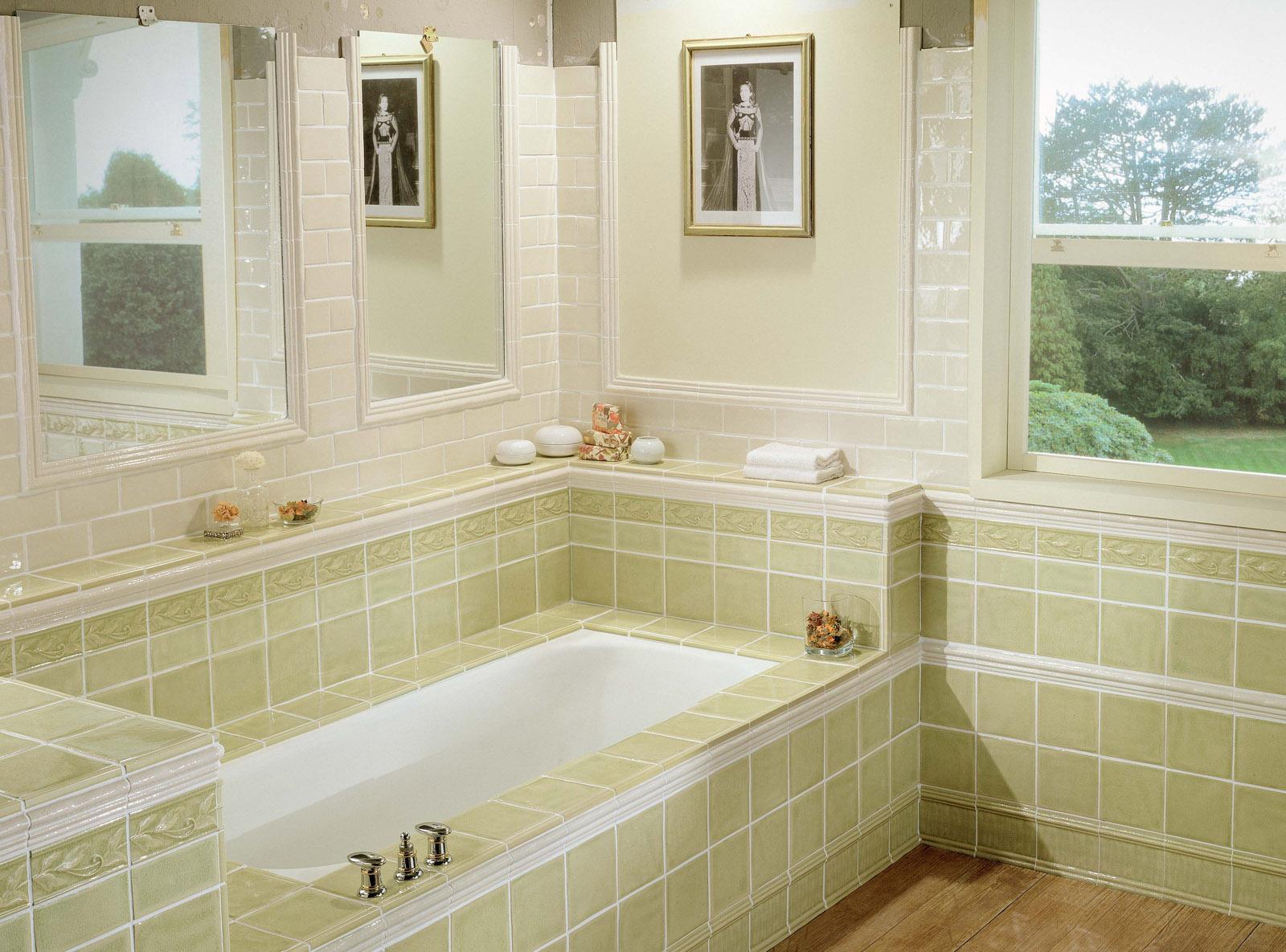 Кремово-оливковая ванная