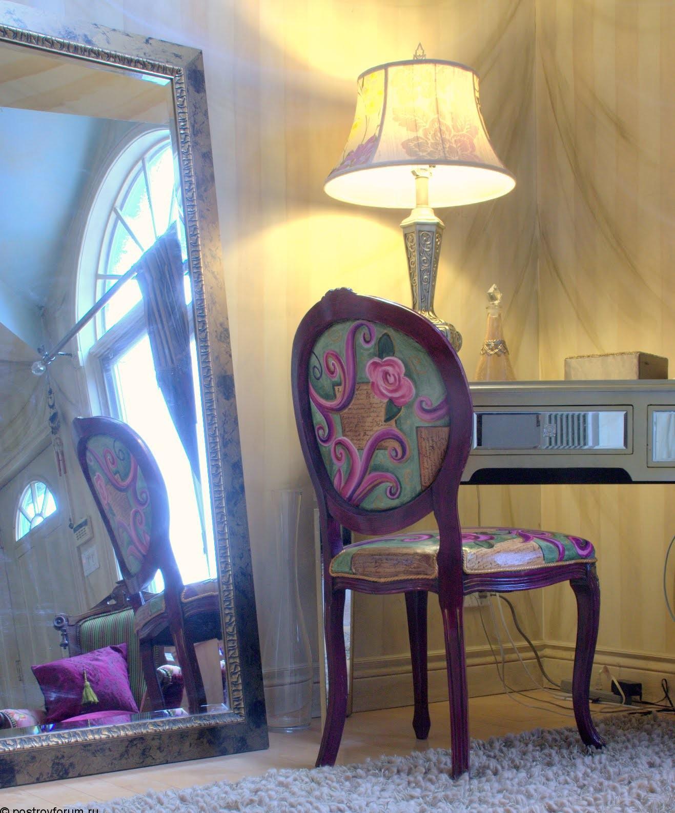 Декупаж стула в гостиной