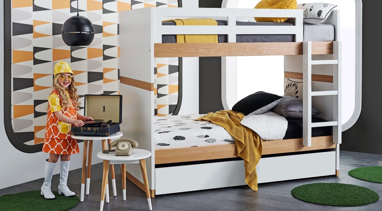 Двухъярусная детская кровать комбинированная