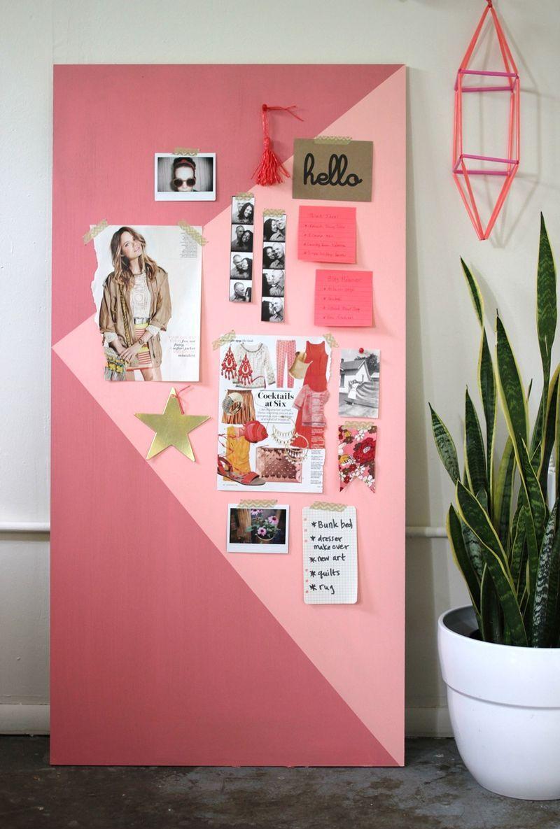Доска для заметок розовая