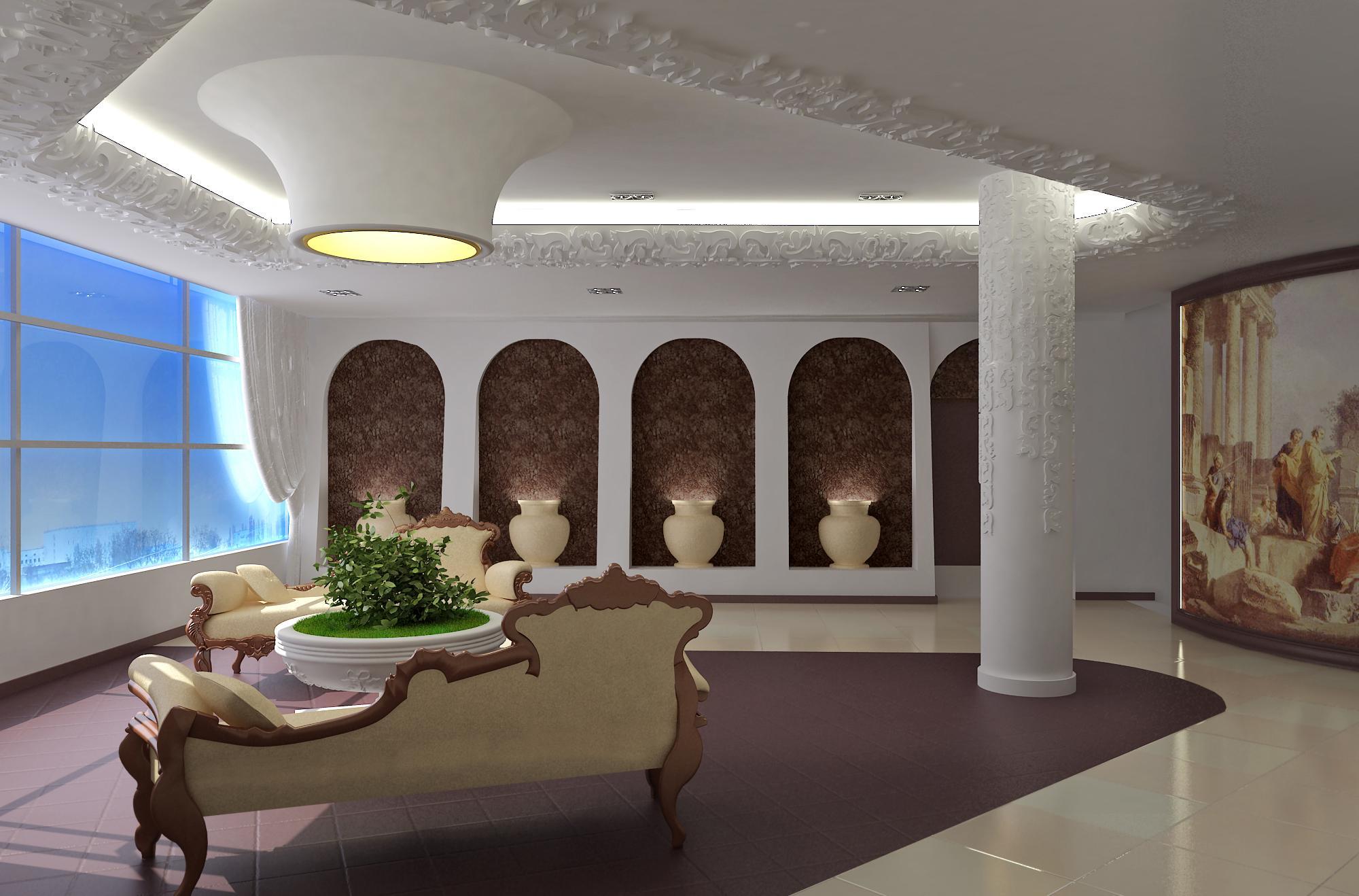 Декор из пенопласта в римском стиле