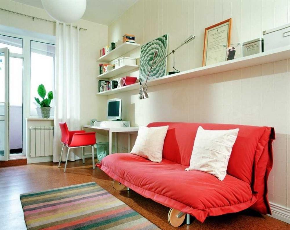 Выкатной диван без подлокотников