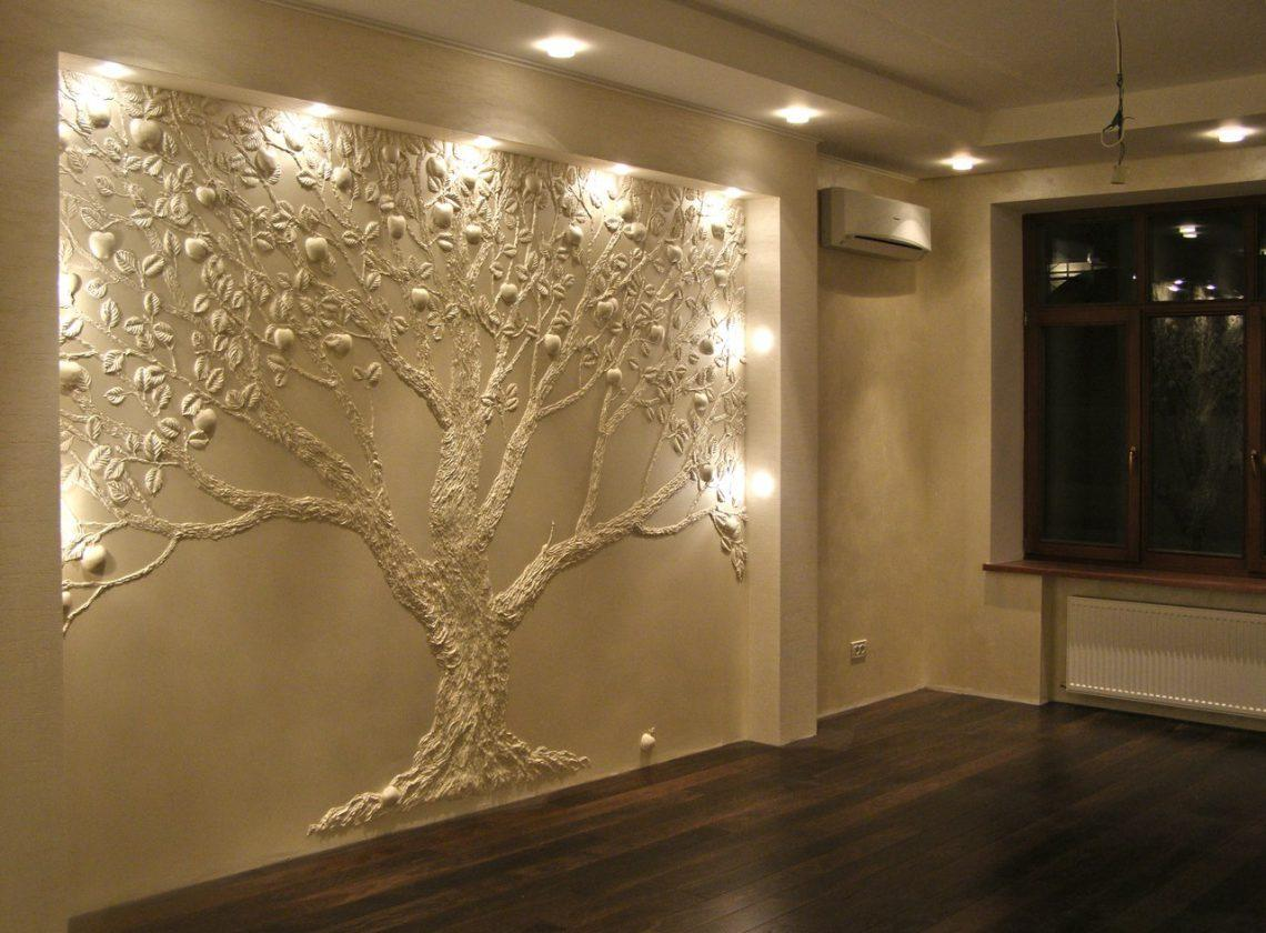 Декор из пенопласта в виде дерева