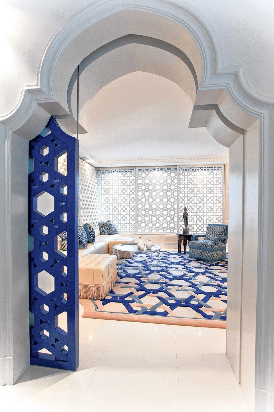 Восточный стиль в интерьере с аркой