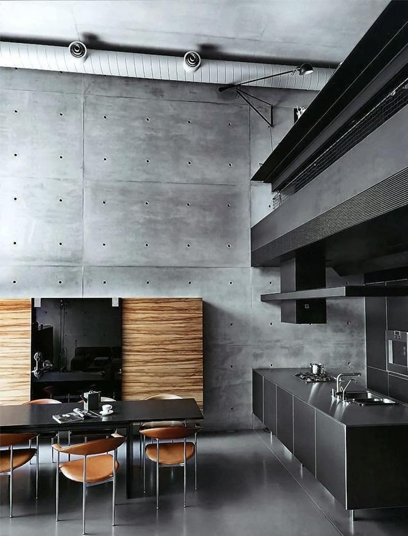 Вентиляция на кухне в стиле лофт