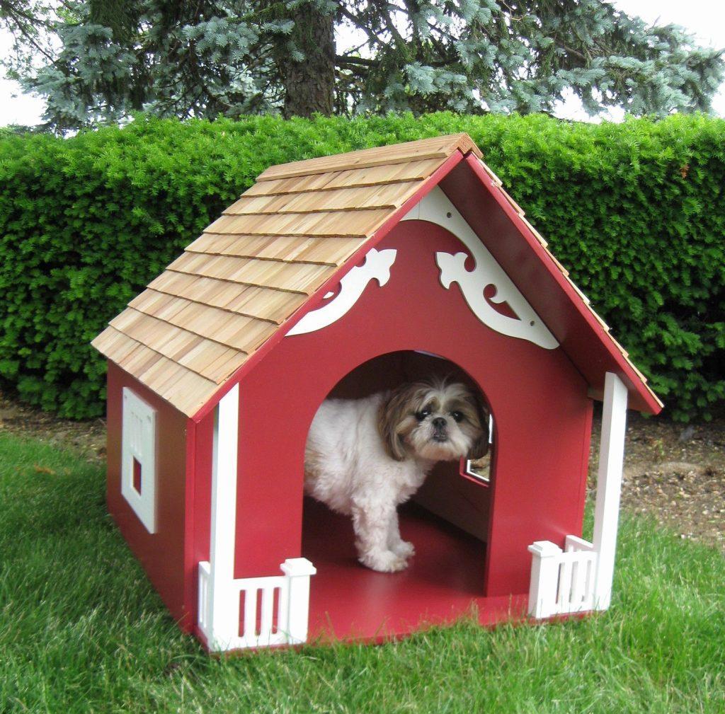 Будка для собаки красная
