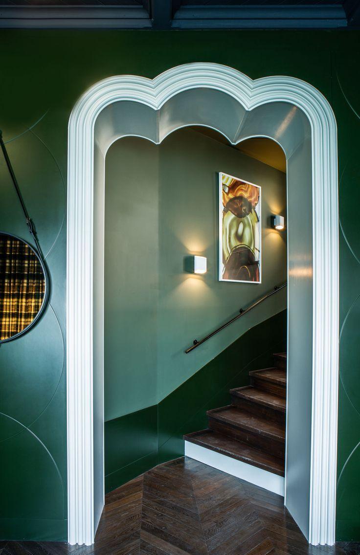 Дизайн коридора с аркой фигурной