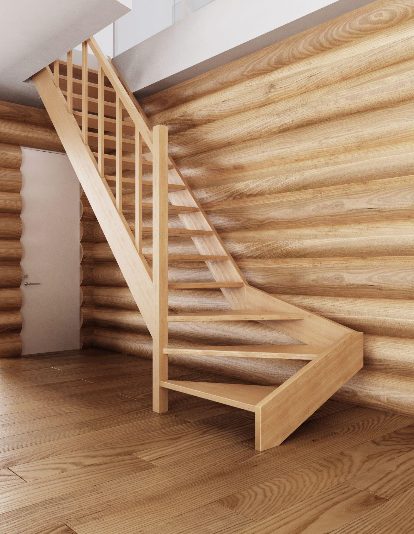 Минималистичная деревянная лестница