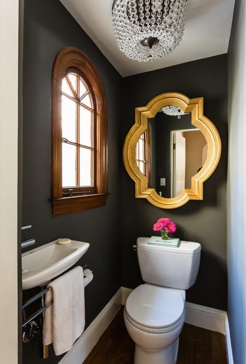 Маленький туалет в стиле модерн