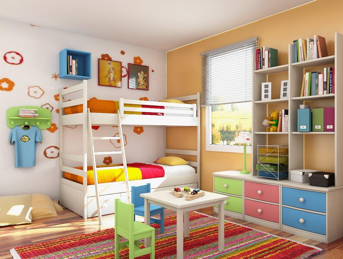 Детская комната в хрущевке с мебелью