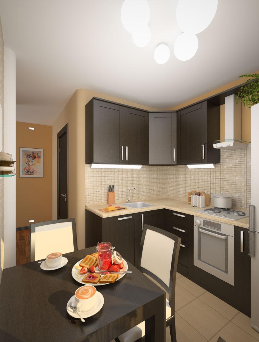 Небольшая красивая кухня