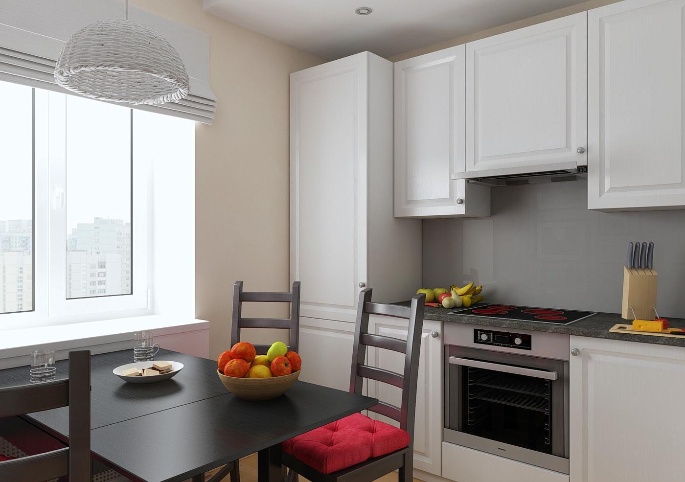Контрастная кухня 8 кв м