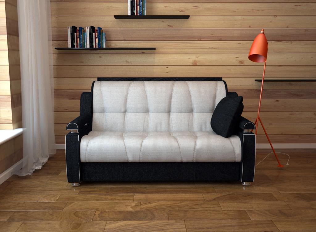 Черно-белый выкатной диван