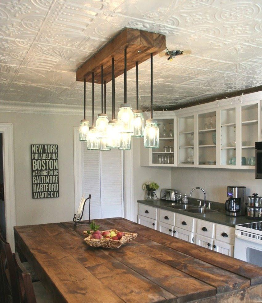 Декор из пенопласта на кухне
