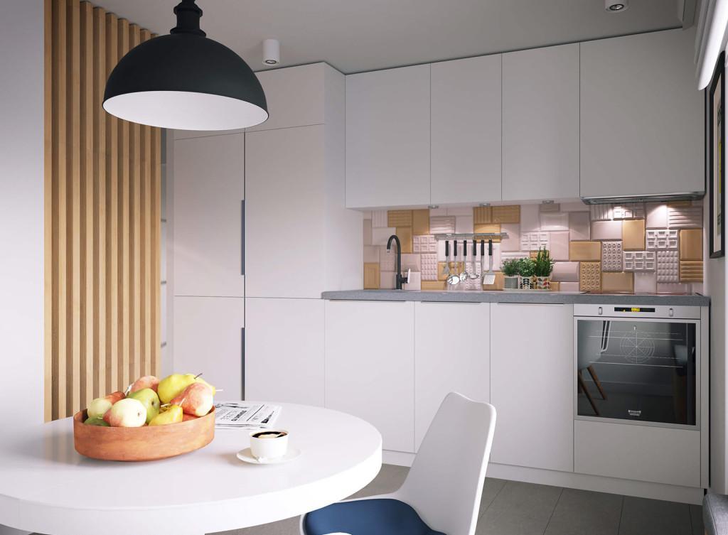 Светлая кухня 8 кв м