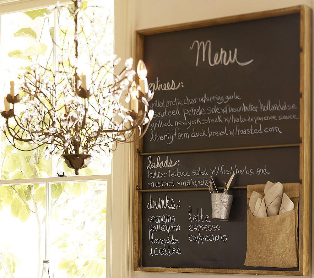 Доска для заметок на кухне