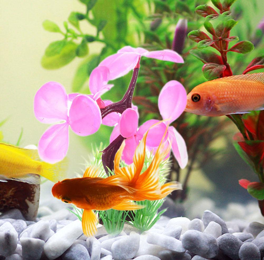 Декор для аквариума цветы