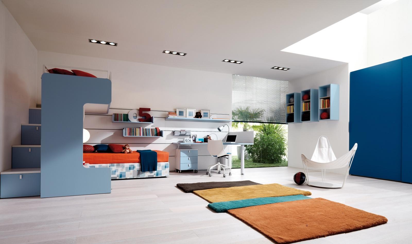 Дизайн комнаты для подростка голубой