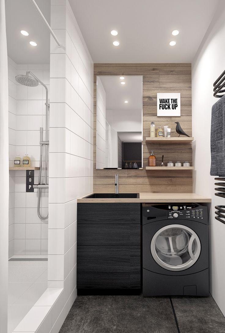 Ванная без унитаза в стиле лофт