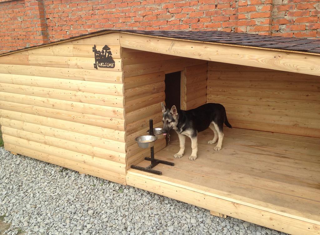 Будка для собаки с верандой