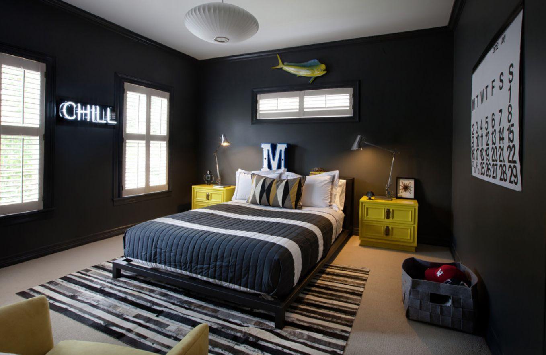 Дизайн комнаты для подростка темный