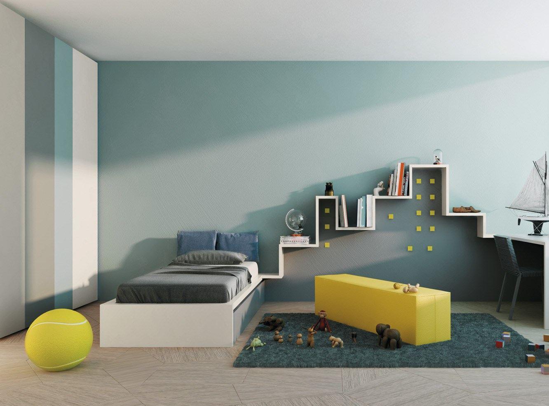 Эконом дизайн детской комнаты серый