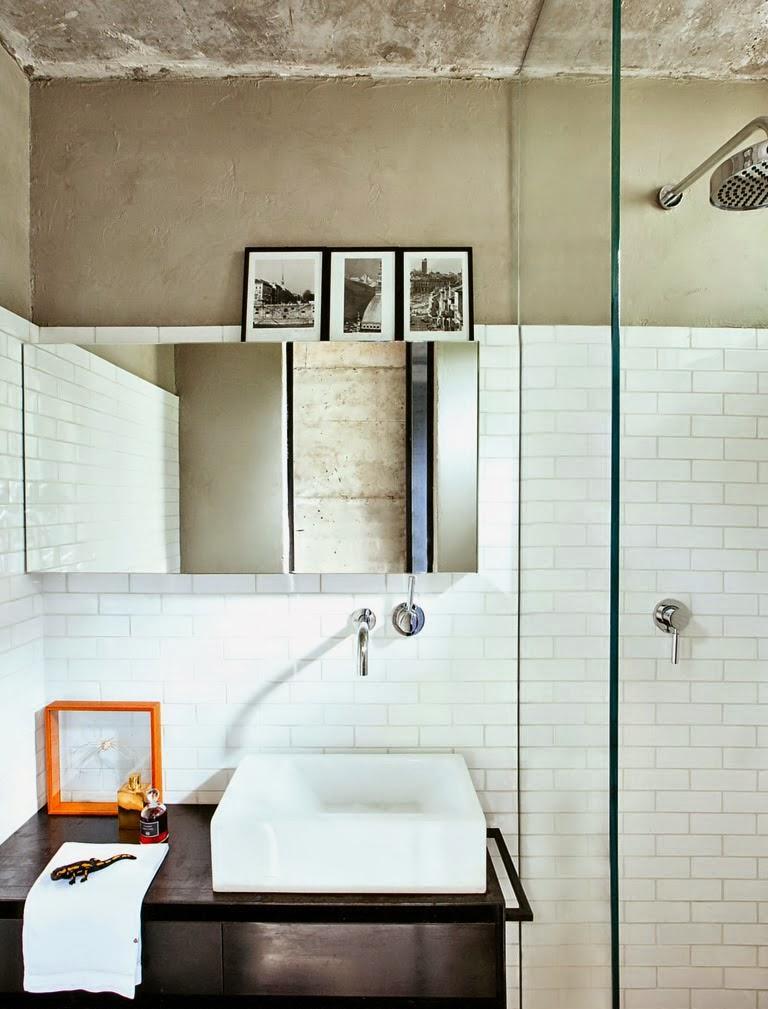 Маленькая ванная комната лофт