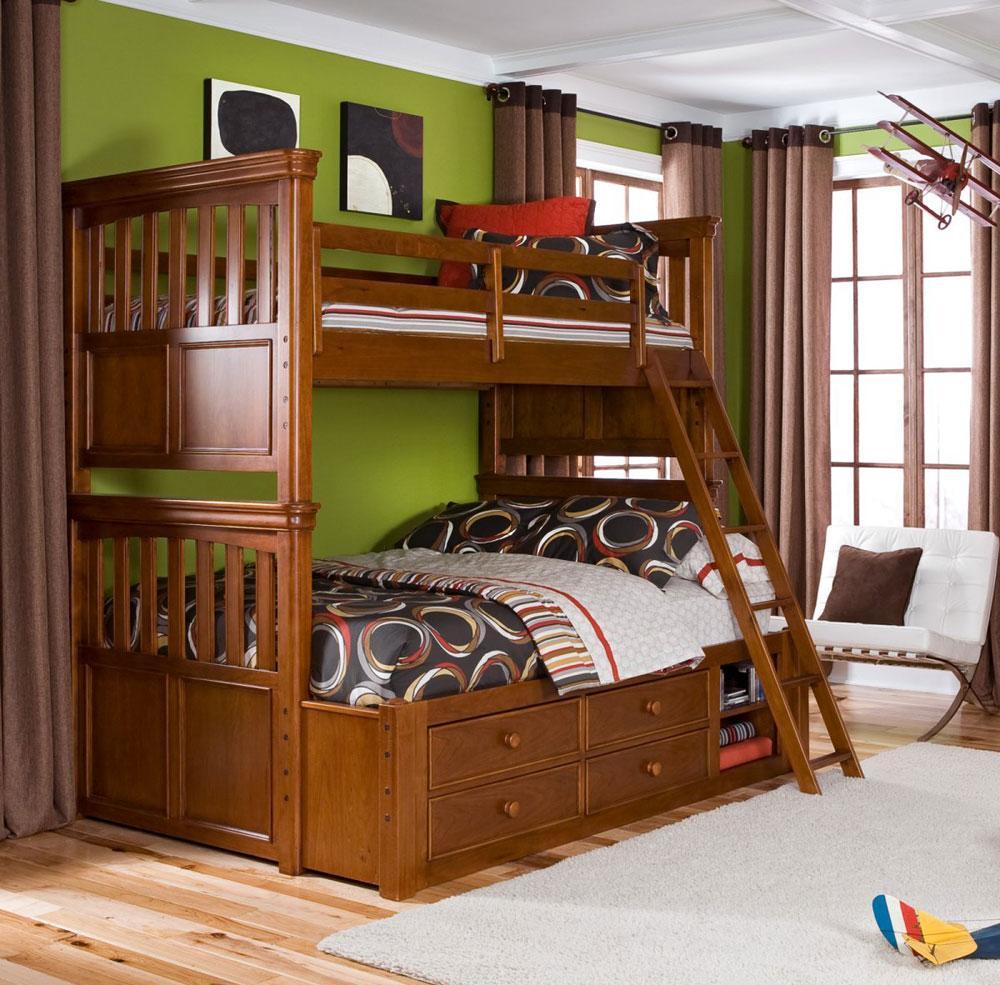 Двухъярусная детская кровать в американском стиле