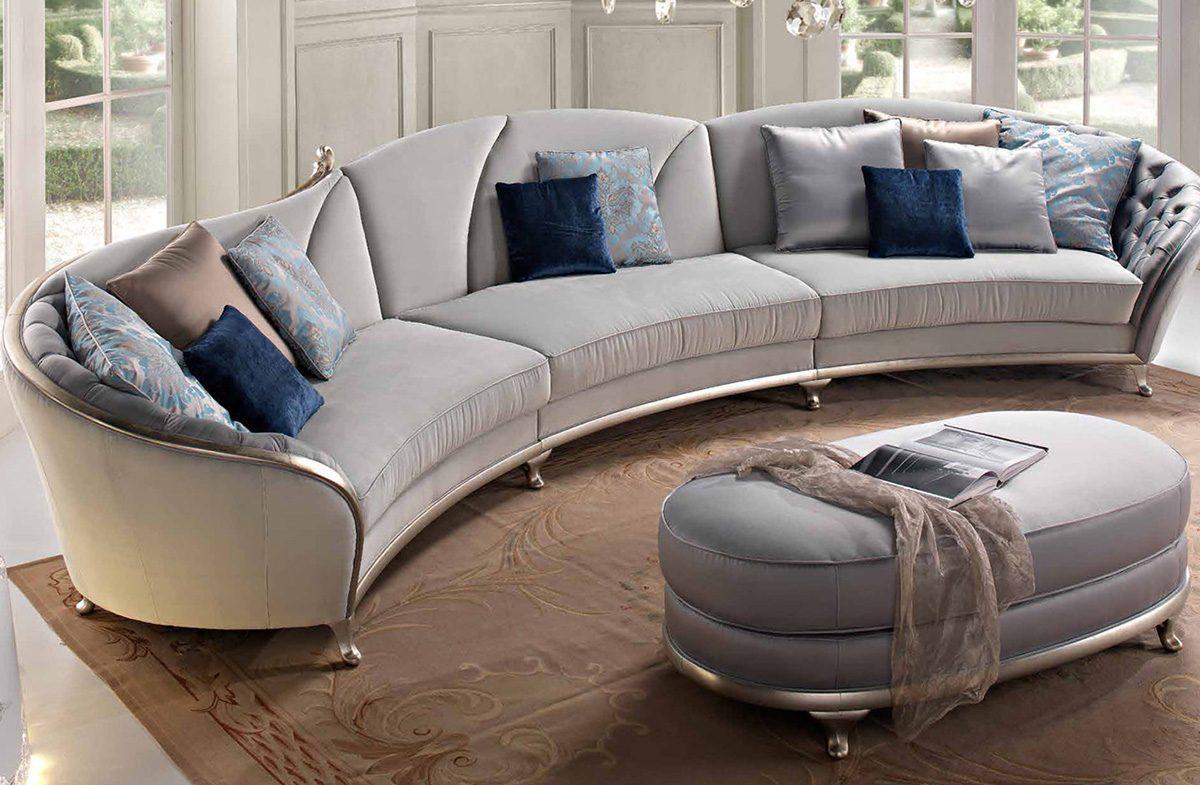 Эркерный полукруглый диван