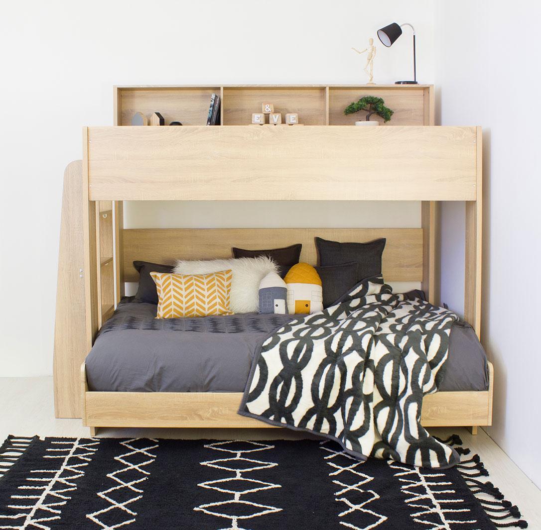 Двухъярусная детская кровать ламинированная