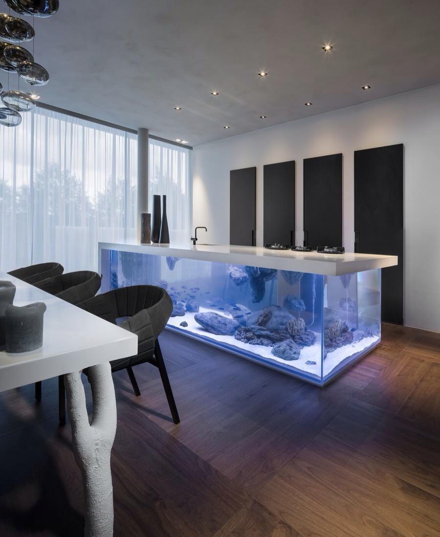 Декор для аквариума с камнями
