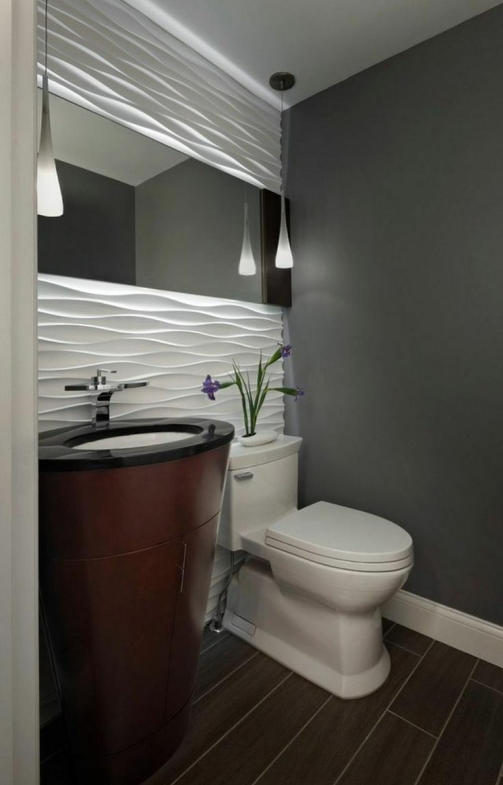 Декор из пенопласта в туалете