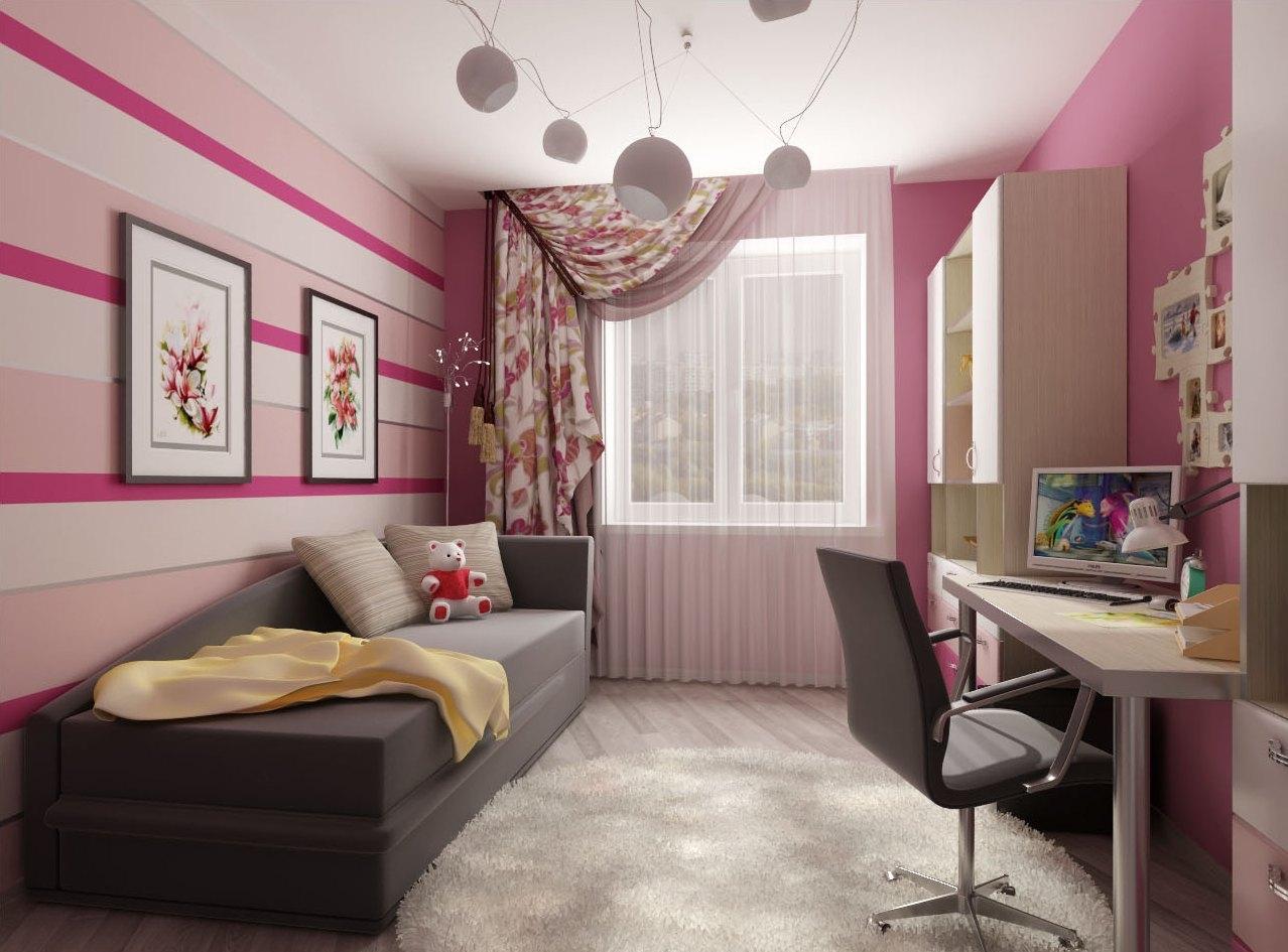 Детская комната в хрущевке фиолетовая