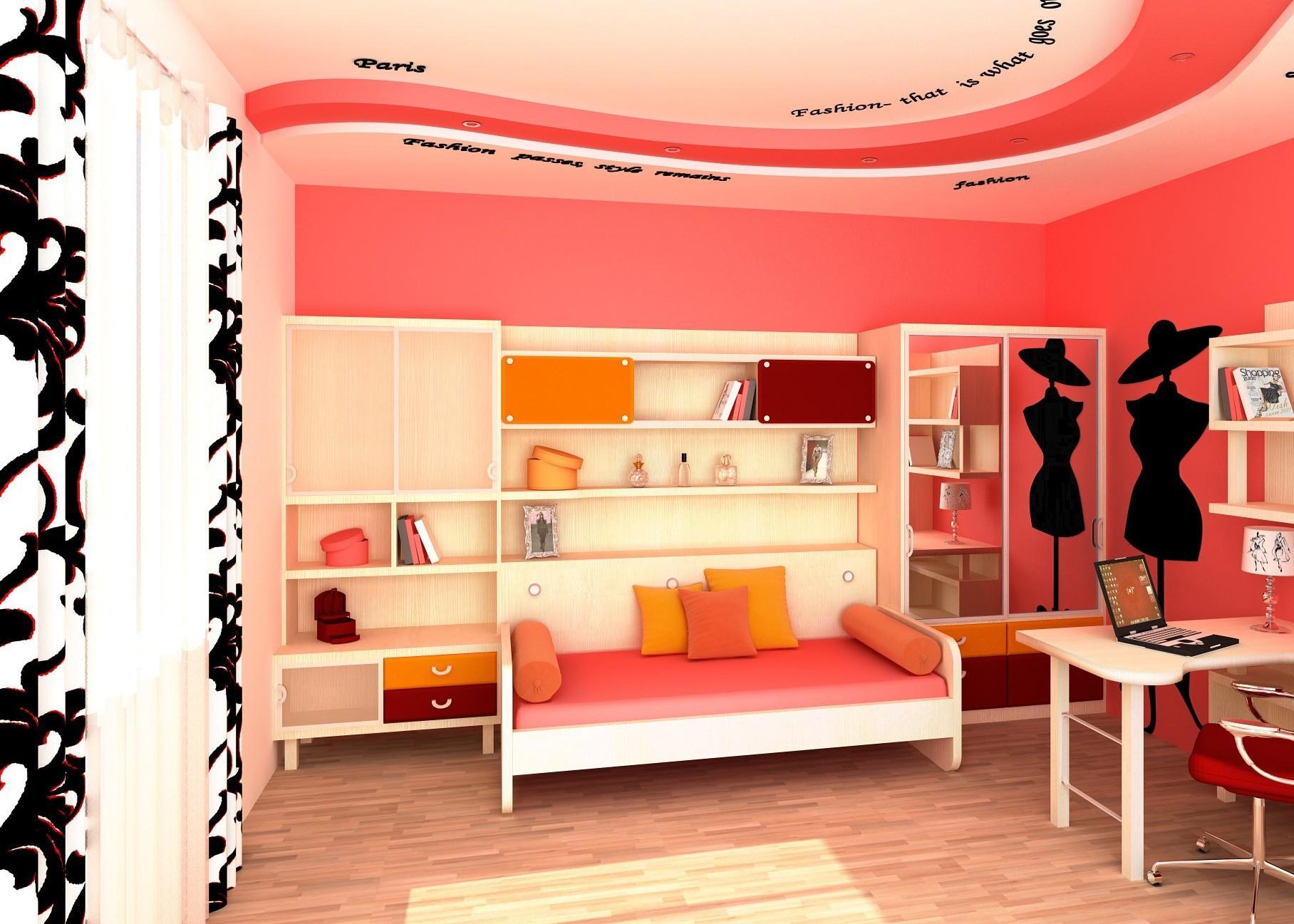 Комната для девочки подростка, увлекающейся модой и шитьем